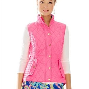 Lilly Pulitzer Blake Quilted Pink Vest